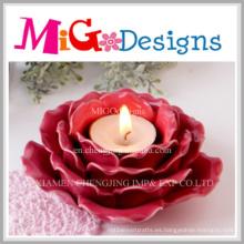 Candelero en forma de flor de cerámica de los artes creativos