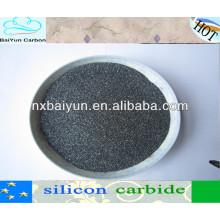 Poudre noire de carbure de silicium d'approvisionnement d'usine pour des abrasifs / carbone en acier