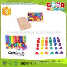 Горячие продажи деревянные игрушки gabe OEM coloful бисер игрушки дети образовательные gabe деревянные бусины игрушки