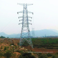 500 Kv Double Circuit Linear Angle Steel Tower