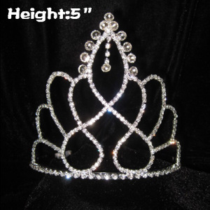 Crystal Diamond Dangle Pageant Crowns