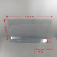 Clear pvc Shelf Talker with Price Tag Holder