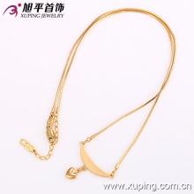 42132 Xuping Costume Heart Charms collar con 18 quilates chapado en oro