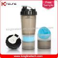 Spider Bottle 600ml Garrafa De Proteção De Proteínas De Plástico com mola de liquidificador inoxidável com 2 Recipientes, BPA Free (KL-7005)