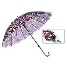Water Ripple Print 16 Ribs Automatic Satin Umbrella (YS-SM23163901R)