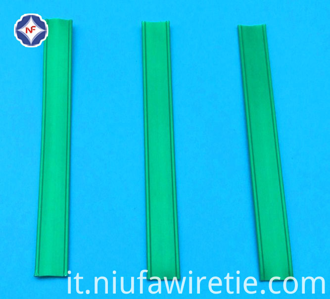 Cut Green Twist Tie