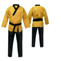 martial arts gi v-neck uniform for poomsae taekwondo