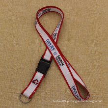 Popular personalizado Sublimated Full Color Impresso Lanyard