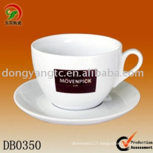 Factory direct wholesale 6pcs porcelain cappucino cup & saucer