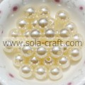 Chinese Manufacturing 6MM Beige Color Plastic Pearl Round Charm ABS Beads