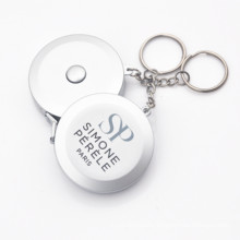 """1.5M 60"""" Silver Keychain Measuring Tape"""