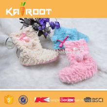 pure colour cute high women winter boots