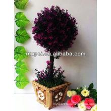 Árbol de hoja topiary bonsai / boj artificial hogar y decoración exterior