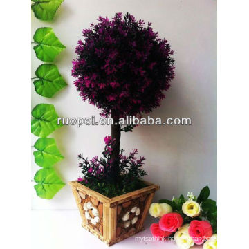 Artificial bonsai/boxwood topiary leaf tree home and outside decoration