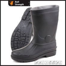 Schwarzer PVC-Regenstiefel mit Stahl Toe Cap (Sn5221)