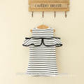 Novel design striped shirt casual mother and daughter dress for girl of 7 years old