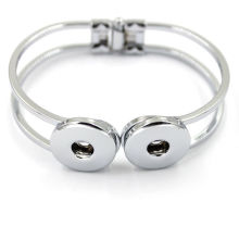 Wholesale Silver Copper Charm Jewelry Snap Button Bracelet