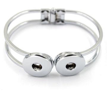 Wholesale Silver Copper Charm Jewelry Snap Button Bracelet