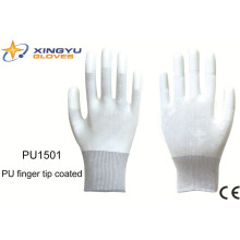 PU Finger Tip Coated Safety Work Glove (PU1501)