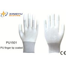 Ponta do dedo do plutônio revestido luva de trabalho de segurança (PU1501)