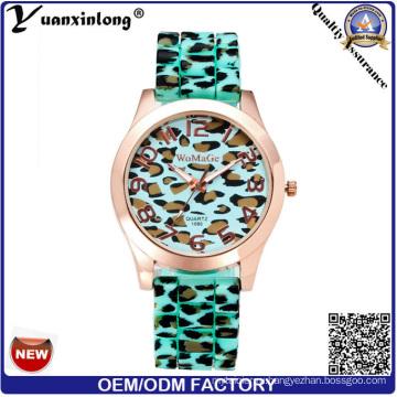 Yxl-179 Новый Дизайн Силиконовые Часы Леопардовый Ремешок Спорт Свободного Покроя Женщины Наручные Часы Логотип Часы Завод