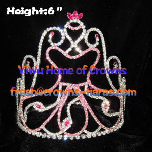 Pink Dancing Girl Pageant Crowns