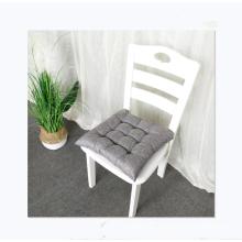 Hot sale solid color linen nail pin futon cushion sofa chair cushion seat