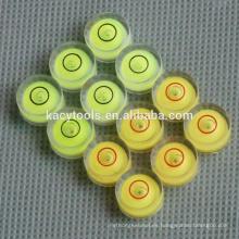 10 x 6mm mini burbujas redondas de nivel de burbuja