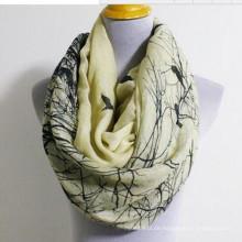 Mode Blumen Vogel Animal Print Infinity Loop Schal