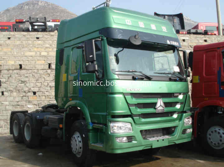 420 Hp Sinotruk Howo 6x4 Tractor Truck With Two Bed