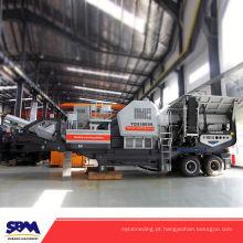 Mineração Minério de aplicação móvel pequeno motor diesel triturador de mandíbula