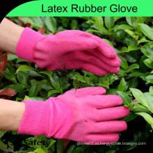 SRSAFETY садовые перчатки сгибают латексные перчатки / латексные защитные перчатки, красные перчатки
