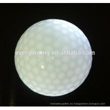 venta caliente 2017 de las pelotas de golf del resplandor del multicolor para jugar de la noche