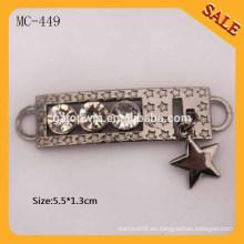 MC449 Colgantes anti-latón del metal de la manera para la ropa / los bolsos / los bolsos