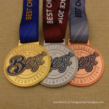 Fita de sublimação de alta qualidade melhor medalha de campeonato de líderes de torcida