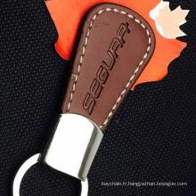 Custom Made en cuir d'unité CENTRALE Keyring