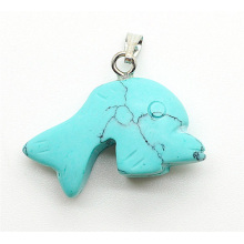 Dolphin Shape Turquoise pendant