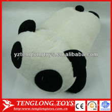 Mignon et rembourré panda en forme d'oreiller animal en peluche personnalisé à vendre