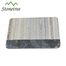 Placa de queijo de mármore branco de natureza