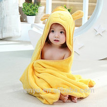 High quality pure yellow bear 100% bamboo Christmas baby Hooded towel Boys & Girls organic baby hooded towel soft baby towel