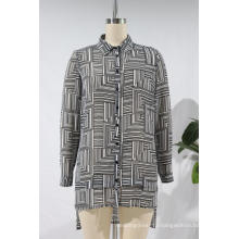 Ladies Chiffon Regular Printed Long Sleeves Blouse