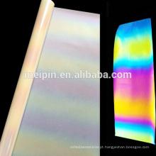 Vinil reflexivo da transferência térmica do arco-íris do vinil do prinitng da tela