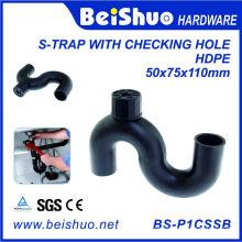 Günstige Preis HDPE S-Trap Abwasser-Armaturen