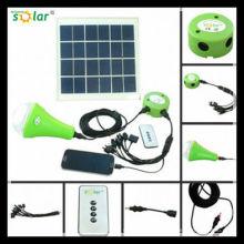 CE portable 3W solaire-LED lampe solaire d'éclairage de secours avec charger(JR-SL988C) de camping