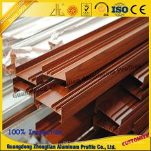 Алюминиевый профиль Штранг-прессования деревянного зерна покрытия порошка для оконного профиля
