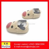 Christmas Time 100% handmade genuine cow leather soft sole Christmas deer baby shoes for Christmas reindeer Baby shoes
