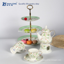 Простой цветочный узор кость фарфор чашка кофе набор изящный чайный сервиз