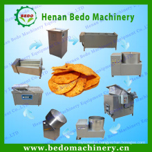 BEDO output 30-300 kg/h electric potato chips making machine frozen french fries production line