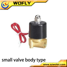 2w025-08 1/4 de polegada 24v dc solenóide válvula de água BSP / NPT rosca média pressão temperatura normal