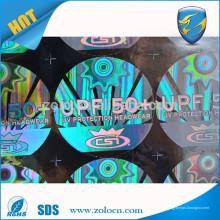 Etiqueta de holograma de boné de beisebol de cola 3M